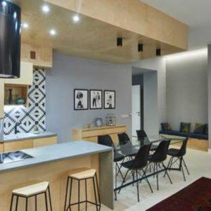 140 m2 unique design flat with 3 bathrooms